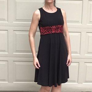 JESSICA HOWARD PETITE comfy black sleeveless dress
